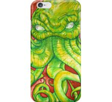 Cthulhu Painting on Wood iPhone Case/Skin