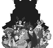 Darkstalkers Lady Killers B/W by PZero