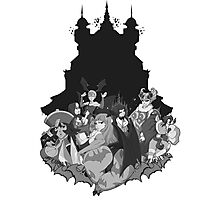 Darkstalkers Lady Killers B/W Photographic Print
