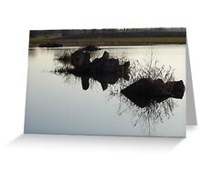 Cement Reflections Greeting Card