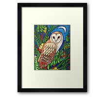 White Heart (Portrait of a Barn Owl) Framed Print