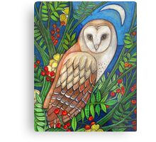 White Heart (Portrait of a Barn Owl) Metal Print