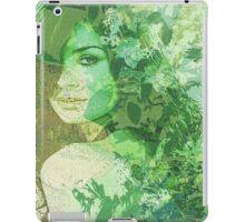 green illustrated girl iPad Case/Skin