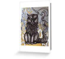The Black Cat Greeting Card