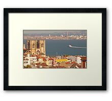 the city of light. Lisbon Cathedral. Framed Print