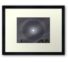 Moon Halo Framed Print