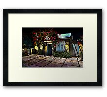 The little yellow house... Framed Print