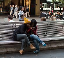 Checking Facebook by Lanii  Douglas
