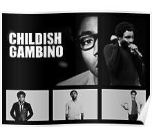 Childish Gambino in Black and White Poster