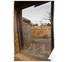 Through The Window of Monarto Ruins Poster