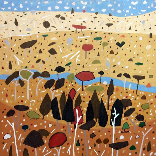 Whimsical Landscape 3. by Richard Klekociuk