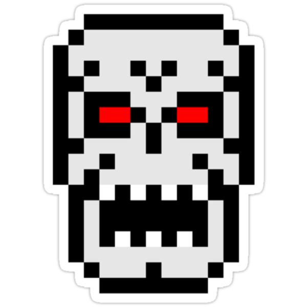 8-bit Skull by KingZombie