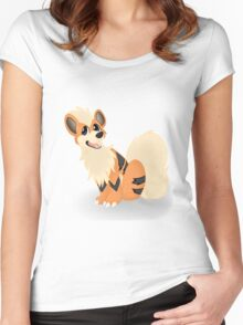 Pokemon - Growlithe Women's Fitted Scoop T-Shirt