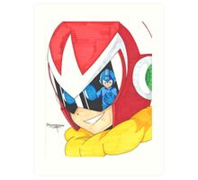 Proto Man and Mega Man Art Print