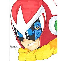 Proto Man and Mega Man Photographic Print
