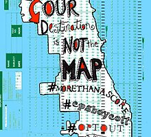 OUR DESTINATION IS NOT THE MAP by Ellen Gradman