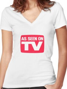 As seen on TV Women's Fitted V-Neck T-Shirt