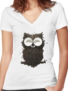 Espresso Self Women's Fitted V-Neck T-Shirt