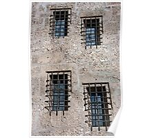 Stone Walls Do Not A Prison Make Poster