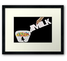 ❀◕‿◕❀MILK FROM A DIFFERENT POINT OF VIEW LOL..MM GOOD!!❀◕‿◕❀ Framed Print