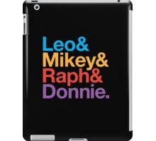 Leo&Mikey&Raph&Donnie. iPad Case/Skin