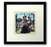 One Stop Pin Up Shop Girls Framed Print