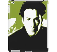 Keanu Reeves in the Matrix, Green Color iPad Case/Skin