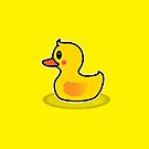 Cute Duck Swimming Cartoon by thejoyker1986