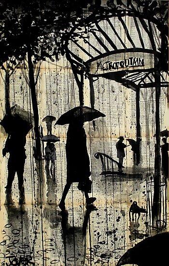 paris metro by Loui  Jover