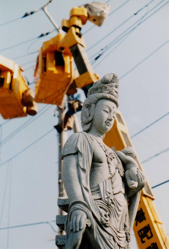 Buddha meets modern life by juliaweston