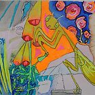 pray mantis part of the INSECTAEI ALBUM by rebecca de figueiredo