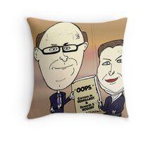 Reinhart Rogoff Caricature échec économique Throw Pillow