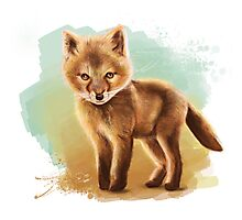 Fox - Digital Painting by Tom Lopez Photographic Print