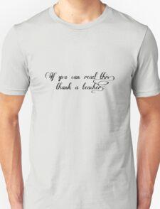 Thank A Teacher Black T-Shirt