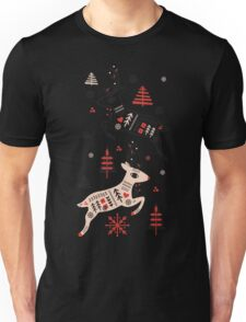 Holiday Folk in Pink Peppermint  Unisex T-Shirt