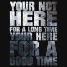 YOUR NOT HERE FOR A LONG TIME YOUR HERE FOR A GOOD TIME by viperbarratt