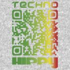 QR Code Technohippy Logo V3 by Technohippy