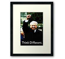 Boris Yeltsin think different Framed Print