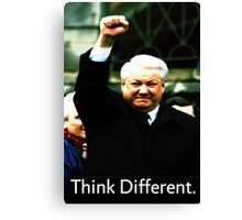 Boris Yeltsin think different Canvas Print