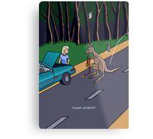 Kangaroo Jump-start Metal Print