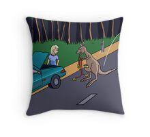 Kangaroo Jump-start Throw Pillow