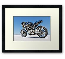 Ducati Monster on the salt 1 Framed Print