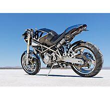 Ducati Monster on the salt 1 Photographic Print