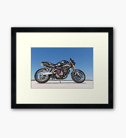 Ducati Monster on the salt 3 Framed Print