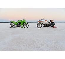 Kawasaki Z1000 and Suzuki GT 750 1 Photographic Print