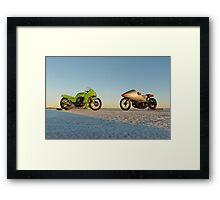 Kawasaki Z1000 and Suzuki GT 750 2 Framed Print