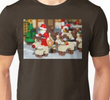 Santa with the reindeers Unisex T-Shirt