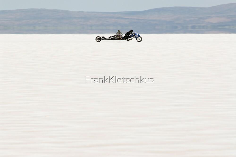 Silverton V8 bike on the salt by Frank Kletschkus