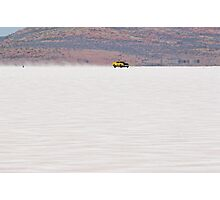 1973 XA Ford Coupe on the salt at full throttle Photographic Print