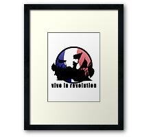 Vive la revolution Framed Print